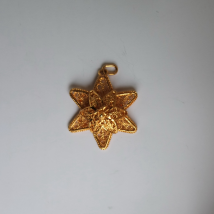 Silver Gilt Pendant Star Shape