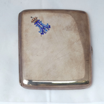 Sterling Silver Cigarette Case with Royal Monogram
